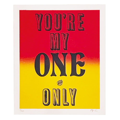 YOURE MY ONE ONLY       RED/YEL