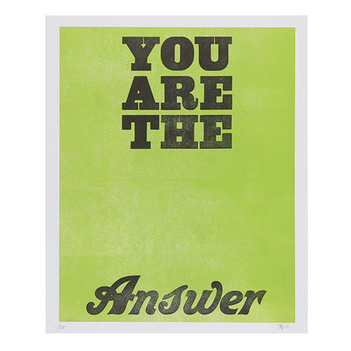 YOU ARE THE ANSWER      GREEN