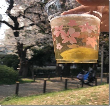 【散り桜で乾杯!】