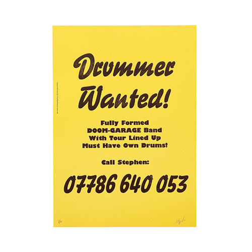 DRUMMER WANTED          YEL