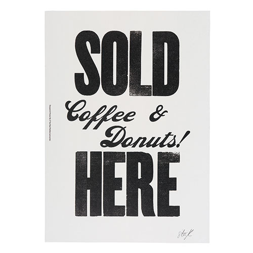 SOLD COFFEE AND DONUTS