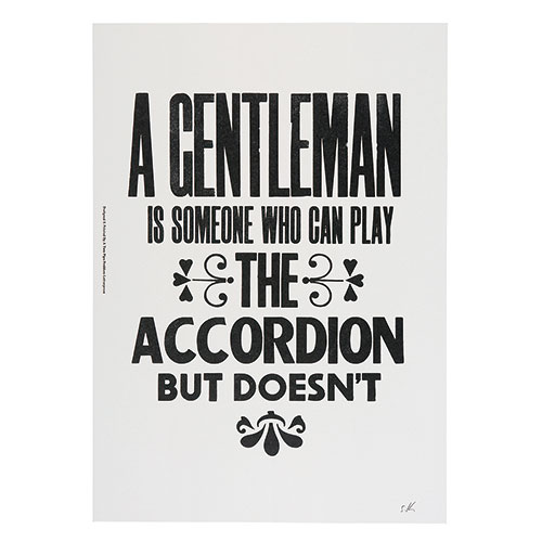 A GENTLEMAN IS SOMEONE